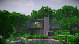 Futuristic little Villa in the tropical Woods Minecraft Map & Project