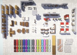 Julius Furniture Pack (biggest on PMC(?)) Minecraft Map & Project