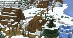 Seed: Snowvillage + Snowbiome @Spawn Minecraft Map & Project