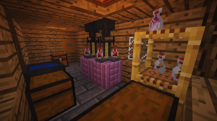 the brewing station
