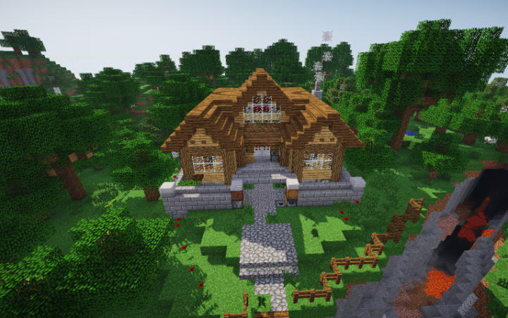 1 Chunk Redstone House Minecraft Project