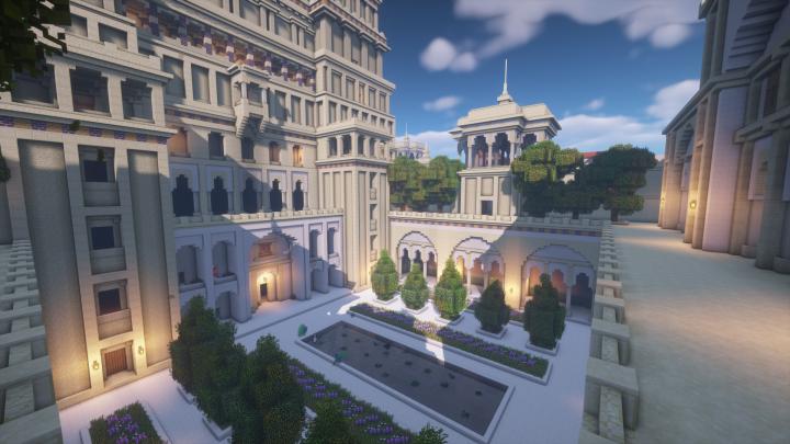 Iranian courtyard.