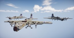 B-17 Flying Fortress | 1.5:1 scale Minecraft Map & Project