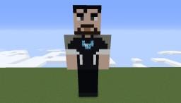 Tony Stark - Iron Man Statue with Animation Minecraft Map & Project