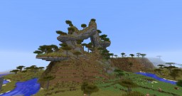 Just a simple savana mountain Minecraft Map & Project