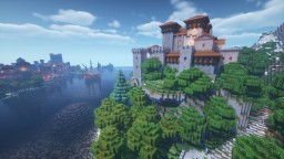 Medieval Spanish Castle Minecraft Map & Project