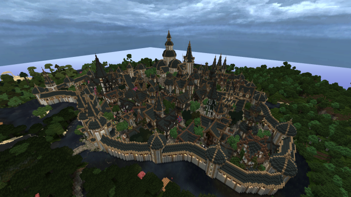 """The Elven city of """"Don-Golin""""."""