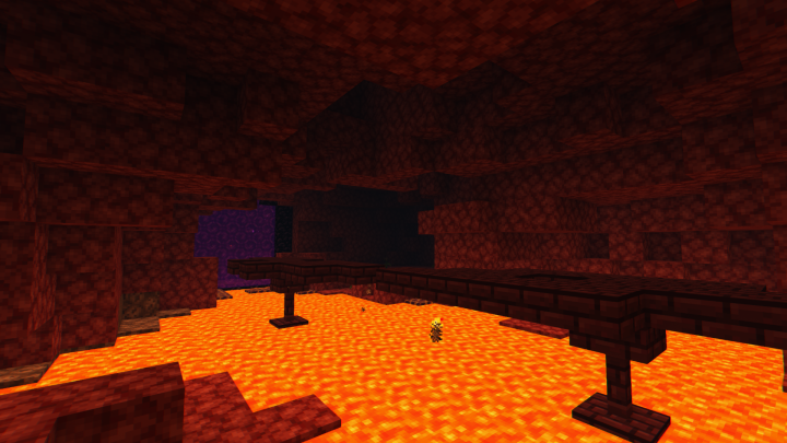 Secret Nether Portal Room with some nice loot