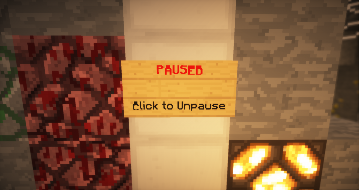 A custom made pause button!  Pause your game so you have time to buy things!