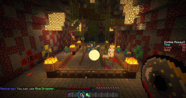 Use custom-made throwable items such as lightning orbs, distraction spawners, throwable bombs and more!