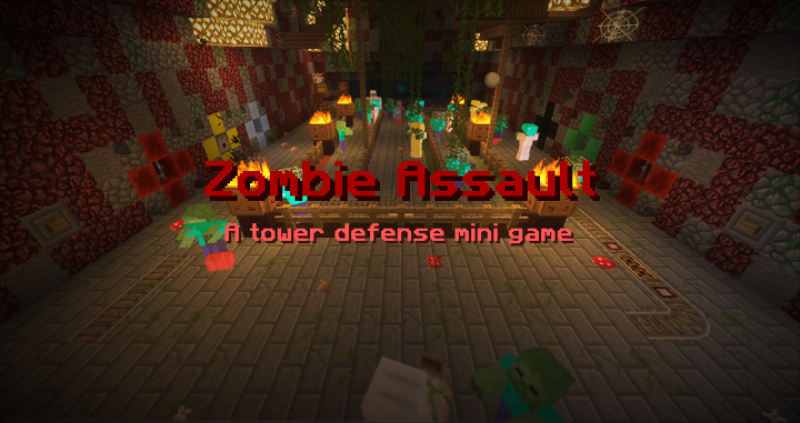 Zombie Assault! A tower defense mini game!