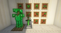 Emerald Equipment Mod (Adds Emerald Tools/Armor/Weapons/Recipes) Minecraft Mod