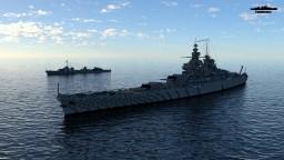 Battleship Clemenceau 1:1 Scale Richelieu class Minecraft Map & Project