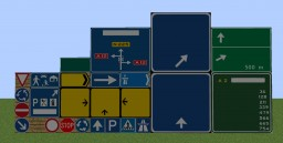 RoadSigns Pack v0.1 Minecraft Texture Pack