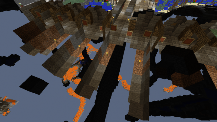 villager mine shafts