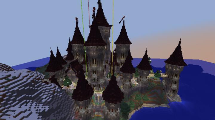 minecraft castle tower designs