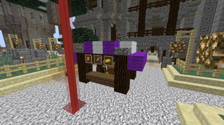 market stall with merchant npc