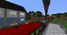 Railroad village with trainstation (Rails of War, Railcraft) Minecraft Map & Project
