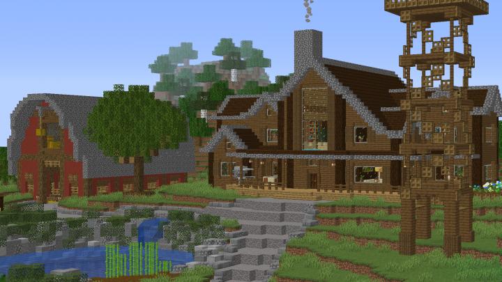 Big Farm House 1 14 4 Minecraft Map