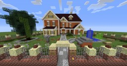 Suburban House with pond Minecraft Map & Project