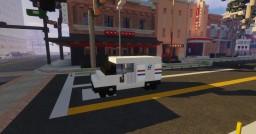1.5:1 Scale USPS Postal Service Small & Medium Trucks Minecraft Map & Project