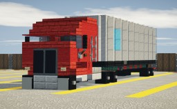 Cab-over Truck w/ 40ft Container Minecraft Map & Project