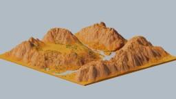 Barren Desert Landscape Minecraft Map & Project