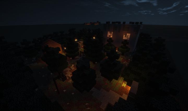 Map at night