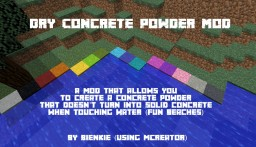 Dry Concrete Powder Mod! (Waterproof) 1.12.2 Minecraft Mod