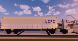 1.5:1 Scale USPS Postal Service Mack MR Trucks & Trailers Minecraft Map & Project