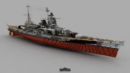 DKM/KMS Scharnhorst 1943 Minecraft Map & Project