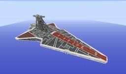 Venator class Star Destroyer - 1/2 - No interior Minecraft Map & Project
