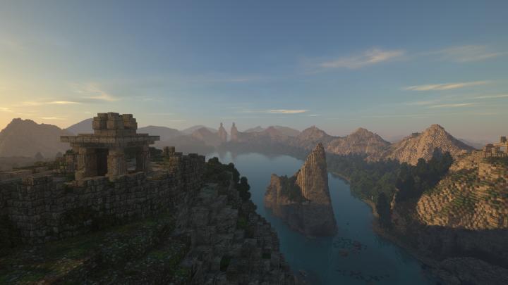 Amon Hen, looking north toward the Pillars