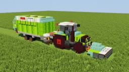 Claas Tractor with Self-Loading Wagon Minecraft Map & Project
