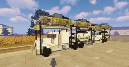 2:1 scale  Peterbilt 389 Heavy Car Transport with cars Minecraft Map & Project
