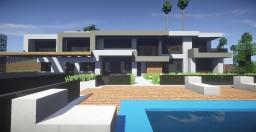 Modern Mansion Beverly Hills Minecraft Map & Project