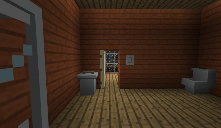 A creepy bathroom view to the nextdoor house