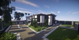 Black modern mansion Minecraft Map & Project