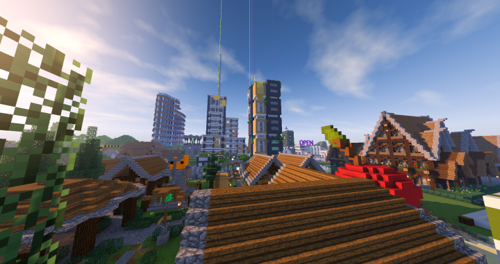 The spawn shopping area