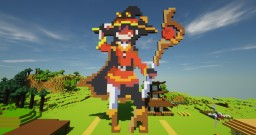 Megumin Pixel Sprite. Minecraft Map & Project