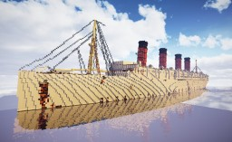"RMS Mauretania 1935 ""The Grand Old Lady"" Exterior Model Minecraft Map & Project"