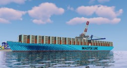 Maersk E-Class Container Ship Minecraft Map & Project