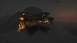 Modern villa with snow Minecraft Map & Project