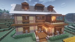 Large 3-Story House with Balcony + Interior Design Minecraft Map & Project