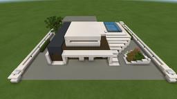 Small Futuristic House Minecraft Map & Project