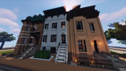 New York Brownstone Townhouse Minecraft Map & Project