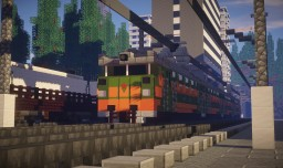 ER2 Soviet Electric Trainset Minecraft Map & Project