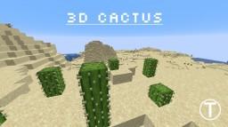 3D cactus 16x16 Minecraft Texture Pack