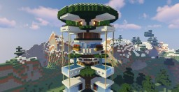 Modern Tree House Minecraft Map & Project