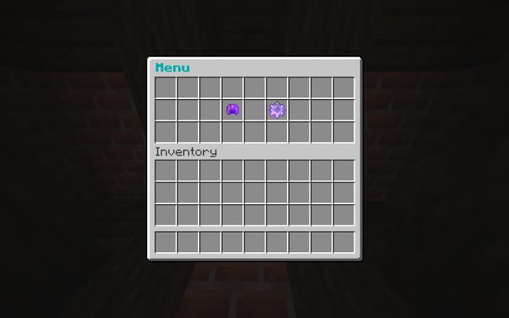 Main menu of team select & settings interactive chest.